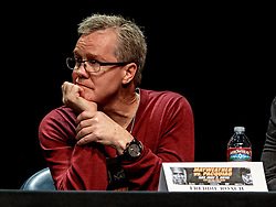 LOS ANGELES, CA - MAR 10 Freddie Roach attends the Mayweather vs Pacquiao press conference at the Nokia Theater in Los Angeles, California USA to promote their upcoming bout at the MGM Grand in Las Vegas, NV May 2, 2015. This is the ony presser. 2015 Feb 9. Byline, credit, TV usage, web usage or linkback must read SILVEXPHOTO.COM. Failure to byline correctly will incur double the agreed fee. Tel: +1 714 504 6870.