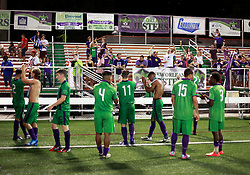20 June 2015. New Orleans, Louisiana.<br /> National Premier Soccer League. NPSL. <br /> Jesters 1 - Knoxville 1.<br /> After the game. The New Orleans Jesters play Knoxville Force at home in the Pan American Stadium. Jesters drew 1-1 with Knoxville.<br /> Photo; Charlie Varley/varleypix.com