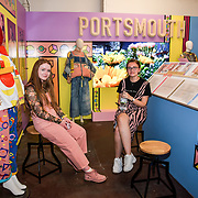 Attendees at Graduate Fashion Week 2019 - Day Two Exhibitions on 3 June 2019, Old Truman Brewery, London, UK.