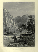 El Hesweh [The Feiran Oasis], Wady Feiran [Wadi Feiran is Sinai's largest and widest wadi] Steel engraving frontispiece from 'Picturesque Palestine, Sinai and Egypt' by Wilson, Charles William, Sir, 1836-1905; Lane-Poole, Stanley, 1854-1931 Volume 4. Published in 1884 by J. S. Virtue and Co, London