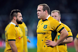Ben Alexander of Australia looks dejected after the match - Photo mandatory by-line: Patrick Khachfe/JMP - Mobile: 07966 386802 29/11/2014 - SPORT - RUGBY UNION - London - Twickenham Stadium - England v Australia - QBE Internationals