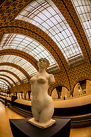 """Sculptures, Musee d""""Orsay,  a museum in Paris, France, on the Left Bank of the Seine. It is housed in the former Gare d'Orsay, a Beaux-Arts railway station built between 1898 and 1900."""