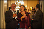 MATHEW PRICHARD; SOPHIE HANNAH, launch of Sophie Hannah's Agatha Christie ' The Monogram Murders ' at the Ritz London. 8 September 2014