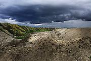 L'ex cava di Ordona dove sarebbero stati 'tombati' tonnellate di rifiuti della Camorra, in provincia di Foggia, Ordona 29 Aprile 2014.  Christian Mantuano / OneShot