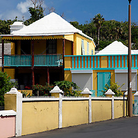 Bermuda, St. George's. Colorful home of St. George's.