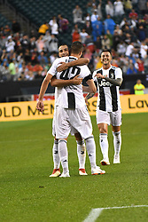 July 25, 2018 - Philadelphia, PA, U.S. - PHILADELPHIA, PA - JULY 25: Juventus forward Andrea Favilli (42) celebrates his goal during a International Champions Cup match between Juventus and FC Bayern Munich on July 25,2018, at Lincoln Financial Field in Philadelphia,PA. Juventus won 2-0. (Photo by Andy Lewis/Icon Sportswire) (Credit Image: © Andy Lewis/Icon SMI via ZUMA Press)