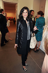 FATIMA BHUTTO at the BRIC art sale preview (Brazil, Russia, India & China, the acronym BRIC here refers to the burgeoning contemporary art practices within these four countries.) organised by Phillips de Pury & Company at The Saatchi Gallery, London on 17th April 2010.