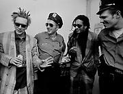 1986 Big Audio Dynamite Medicine Show Video Shoot. John Lydon, Joe Strummer, Don Letts, Paul Simonon