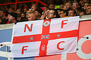 Nottingham Forest fans during the EFL Sky Bet Championship match between Nottingham Forest and Burton Albion at the City Ground, Nottingham, England on 21 October 2017. Photo by John Potts.