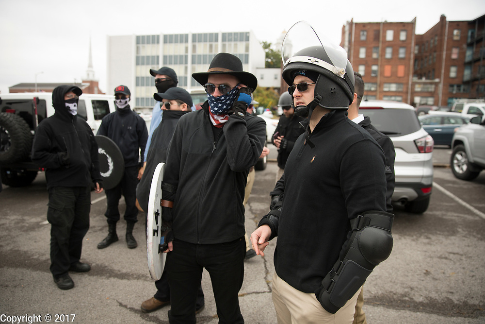 """10282017 - Shelbyville, Tennessee, USA: White Nationalist groups gather for a """"White Lives Matter"""" rally. (Jeremy Hogan/Polaris)"""