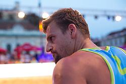 Jernej Potocnik at Beach Volleyball Challenge Ljubljana 2014, on August 1, 2014 in Kongresni trg, Ljubljana, Slovenia. Photo by Matic Klansek Velej / Sportida.com
