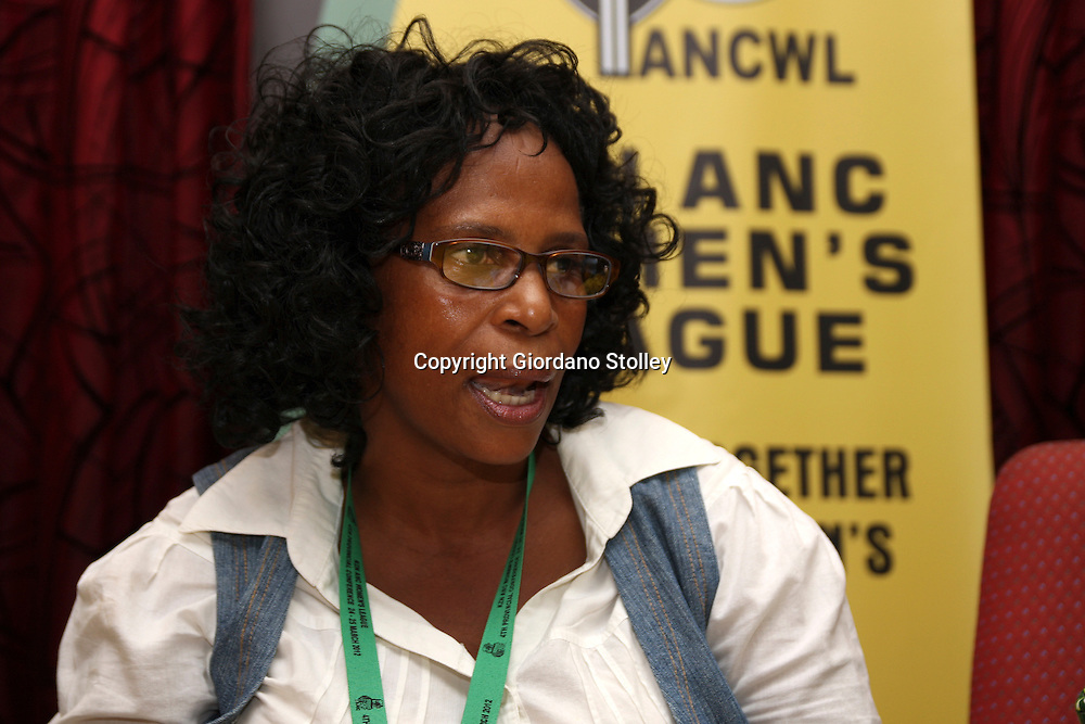 DURBAN - 25 March 2012 - Nonhlanhla Khoza addresses a press conference after the organisation's KZN provincial executive committee was elected. She was elected provincial secretary..Picture: Giordano Stolley/Allied Picture Press/APP