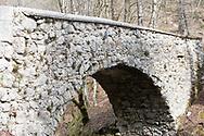 The Devil's Bridge (Hudičev most) over the River Mostnica, near Stara Fužina. Mostnica Gorge, Bohinj, Triglav National Park, Slovenia © Rudolf Abraham