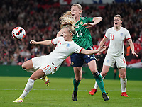 England's Beth Mead scores her side's first goal <br /> <br /> Photographer Stephanie Meek/CameraSport<br /> <br /> FIFA Women's World Cup Qualifying Group D - England Women v Northern Ireland Women - Saturday 23rd October 2021 - Wembley Stadium - London<br /> <br /> World Copyright © 2021 CameraSport. All rights reserved. 43 Linden Ave. Countesthorpe. Leicester. England. LE8 5PG - Tel: +44 (0) 116 277 4147 - admin@camerasport.com - www.camerasport.com