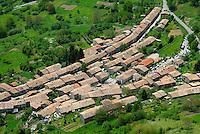 France. Ariege. Village de Montsegur. //  France. Ariege. Montsegur village.