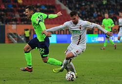 15.12.2018, 1.BL, FCA vs Schalke 04, WWK Arena Augsburg, Fussball, Sport, im Bild:..Steven Skrzybski (Schalke 04) vs Marco Richter (FC Augsburg)..DFL REGULATIONS PROHIBIT ANY USE OF PHOTOGRAPHS AS IMAGE SEQUENCES AND / OR QUASI VIDEO...Copyright: Philippe Ruiz..Tel: 089 745 82 22.Handy: 0177 29 39 408.e-Mail: philippe_ruiz@gmx.de. (Credit Image: © Philippe Ruiz/Xinhua via ZUMA Wire)