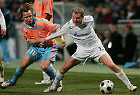 Fotball<br /> Frankrike<br /> Foto: DPPI/Digitalsport<br /> NORWAY ONLY<br /> <br /> FOOTBALL - UEFA CUP 2007/2008 - 1/8 FINAL - 1ST LEG - OLYMPIQUE MARSEILLE v ZENIT SAINT PETERSBURG - 06/03/2008 - BOUDEWIJN ZENDEN (OM) / ALEXANDER ANYUKOV (ZEN)