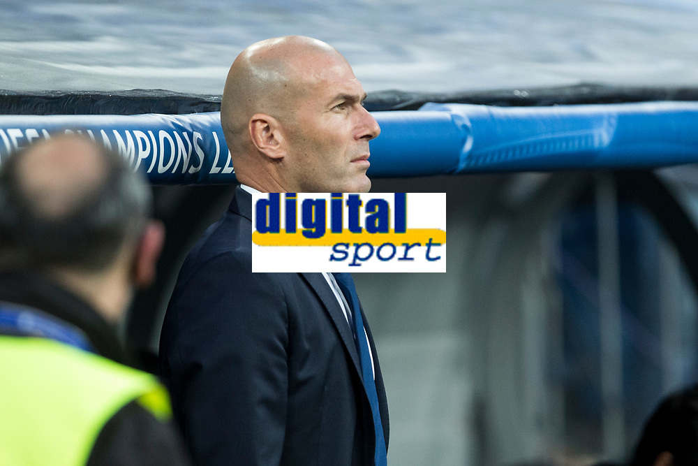 Zinedine Zidane coach  of Real Madrid during the match of Champions League between Real Madrid and FC Bayern Munchen at Santiago Bernabeu Stadium  in Madrid, Spain. April 18, 2017. (ALTERPHOTOS)