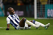 WBA's Allan Nyom looks on dejected during the Premier League match at Vicarage Road Stadium, London. Picture date: April 4th, 2017. Pic credit should read: David Klein/Sportimage