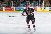 KELOWNA, CANADA - FEBRUARY 10: Ty Ronning #7 of the Vancouver Giants skates to the bench against the Kelowna Rockets on February 10, 2017 at Prospera Place in Kelowna, British Columbia, Canada.  (Photo by Marissa Baecker/Shoot the Breeze)  *** Local Caption ***
