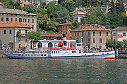 Italy, Lombardy, Lake Como Pleasure cruise boat