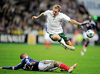 Fotball<br /> Frankrike v Irland<br /> Foto: DPPI/Digitalsport<br /> NORWAY ONLY<br /> <br /> FOOTBALL - FIFA WORLD CUP 2010 - PLAY OFF - 2ND LEG - FRANCE v REPUBLIC OF IRELAND - 18/11/2009<br /> <br /> LIAM LAWRENCE (IRE) / THIERRY HENRY (FRA)