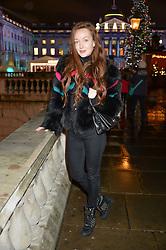 OLIVIA GRANT at Skate At Somerset House with Fortnum & Mason on 16th November 2016.