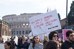 November 10, 2018 - Roma, RM, Italy - Flash mob organized by the association of nonUnaDiMeno activists to protest against the Pillon DDL in Rome, with a silent march from the Colosseum to the Campidoglio. (Credit Image: © Matteo Nardone/Pacific Press via ZUMA Wire)