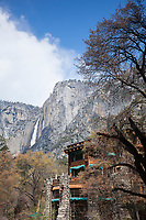 Scenic image of Ahwahnee Lodge in Yosemite National Park.