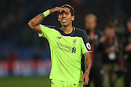Roberto Firmino of Liverpool looks on. Premier League match, Crystal Palace v Liverpool at Selhurst Park in London on Saturday 29th October 2016.<br /> pic by John Patrick Fletcher, Andrew Orchard sports photography.