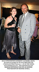 Actor CHRISTOPHER CAZENOVE and ISABEL DAVIS, at a party in London on 7th June 2004.PUW 104