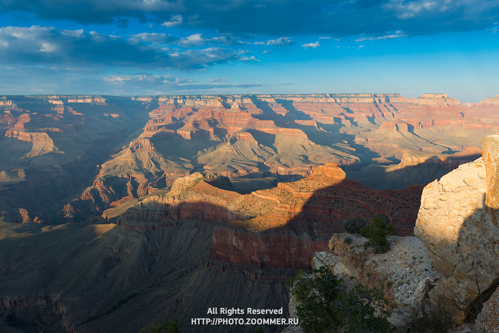 Sunset In Grand Canyon South Rim, Arizona, USA