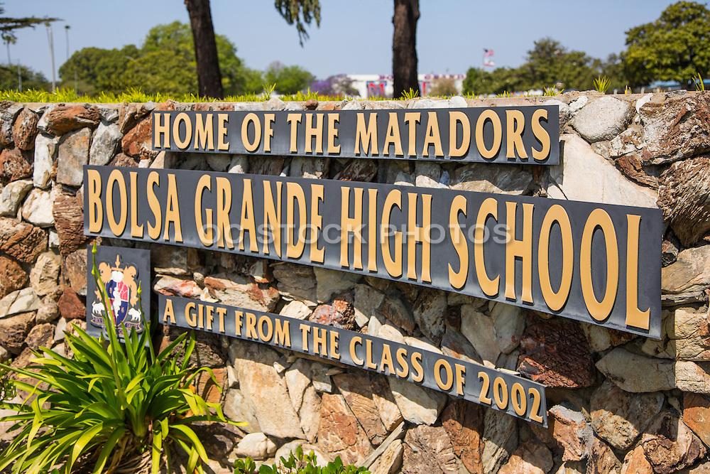 Bolsa Grande HIgh School in Garden Grove California