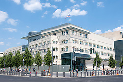 Exterior view of new Embassy of United States of America in Berlin Germany