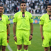 Referee's Ozgur YANKAYA (C) during their Turkish superleague soccer match Besiktas between Manisaspor at BJK Inonu Stadium in Istanbul Turkey on Friday, 07 May 2010. Photo by TURKPIX