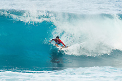 December 11, 2017 - Hawaii, U.S. - World No.2 on the Jeep Leaderboard and 2014 World Champion Gabriel Medina of Brazil  will surf in Round Two of the 2017 Billabong Pipe Masters after placing third in Heat 5 of Round One on the North Shore of Oahu.  Third placing was a shock defeat for the World Title contender and a loss in Round Two would eliminated Medina from the World Title chase. (Credit Image: © Damien Poullenot/WSL via ZUMA Wire)