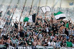 30.04.2011, AWD Arena, Hannover, GER, 1.FBL, Hannover 96 vs Borussia Moenchengladbach, im Bild jubelnde Moenchengladbacher Fans .EXPA Pictures © 2011, PhotoCredit: EXPA/ nph/  Schrader       ****** out of GER / SWE / CRO  / BEL ******