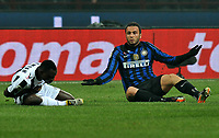 "Giampaolo PAZZINI (Inter), Kwadwo ASAMOAH (Udinese)<br /> Milano 3/12/2011 Stadio ""Giuseppe Meazza""<br /> Serie A 2011/2012<br /> Football Calcio Inter Vs Udinese<br /> Foto Insidefoto Alessandro Sabattini"