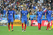 France Midfielder Dimitri Payet after his goal  during the Group A Euro 2016 match between France and Romania at the Stade de France, Saint-Denis, Paris, France on 10 June 2016. Photo by Phil Duncan.