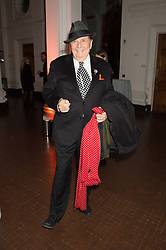 BARRY HUMPHRIES at a dinner to celebrate Sir David Tang's 20 year patronage of the Royal Academy of Arts and the start of building work on the Burlington Gardens wing of the Royal Academy held at 6 Burlington Gardens, London on 26th October 2015.