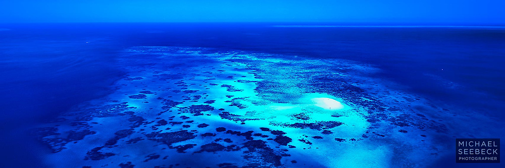 An aerial panoramic photograph of Vlasoff Cay taken on an idyllic day. <br /> <br /> Code: HAQI0005 <br /> <br /> Limited Edition Print