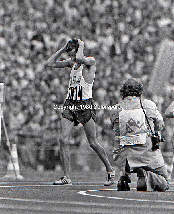 Frank Shorter (USA) on his way to winning the marathon at the 1972 Olympic Summer Games.