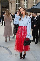 Jessica Alba attending the Valentino's Spring-Summer 2016/2017 Ready-To-Wear collection show held at the Salomon de Rothschild Hotel in Paris, France, on October 2, 2016. Photo by Nicolas Genin/ABACAPRESS.COM