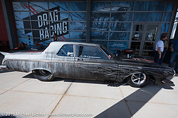 Entrance to - Drag Racing: America's Fast Time - exhibition at the Harley-Davidson Museum during the Milwaukee Rally. Milwaukee, WI, USA. Sunday, September 4, 2016. Photography ©2016 Michael Lichter.