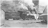 """RGS 2-8-0 #16 switching at Telluride.<br /> RGS  Telluride, CO  <br /> In book """"Rio Grande Southern, The: An Ultimate Pictorial Study"""" page 85"""