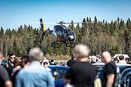 Jämtland, SVERIGE - 18 MAJ 2019: STORM Heliworks erbjöd besökarna flygturer över området. (Foto: Per Danielsson/Projekt.P ) <br /> <br /> Nyckelord Keywords: Springmeet 2019, Ope Flygfält,