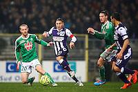 Adrien Regattin / Jonathan Brison - 28.02.2015 - Toulouse / Saint Etienne - 27eme journee de Ligue 1 -<br />Photo : Manuel Blondeau / Icon Sport