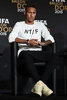 Zurich (Svizzera) 11/01/2016 - Fifa Ballon d'Or 2015 Pallone d'Oro / foto Matteo Gribaudi/Image Sport/Insidefoto<br /> nella foto: Neymar