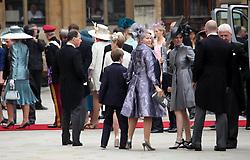 29 April 2011. London, England..Royal wedding day. Royal arrivals at Westminster Abbey..Photo; Charlie Varley.