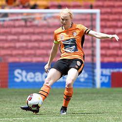 BRISBANE, AUSTRALIA - JANUARY 7: Clare Polkinghorne of the Roar in action during the round 11 Westfield W-League match between the Brisbane Roar and Western Sydney Wanderers at Suncorp Stadium on January 7, 2017 in Brisbane, Australia. (Photo by Patrick Kearney/Brisbane Roar)